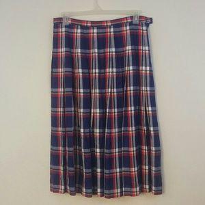Pedleton Classic Long Plaid Skirt Sz16